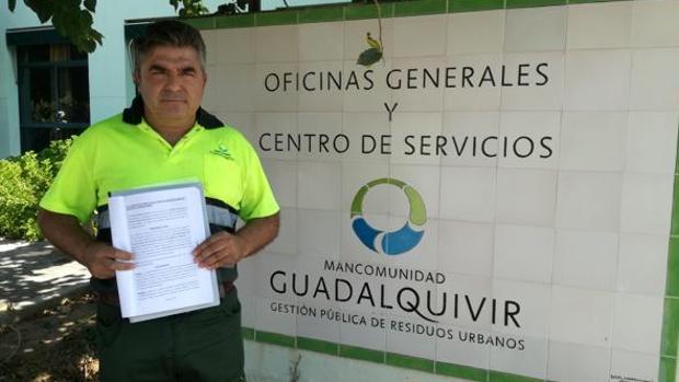 Antonio Borrego es el trabajador que denunció las irregularidades en contrataciones de la Mancomunidad
