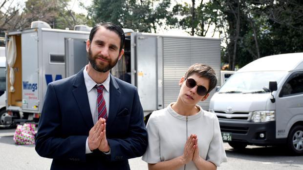 Dani Rovira y María León durante el rodaje del largometraje «Los Japón»