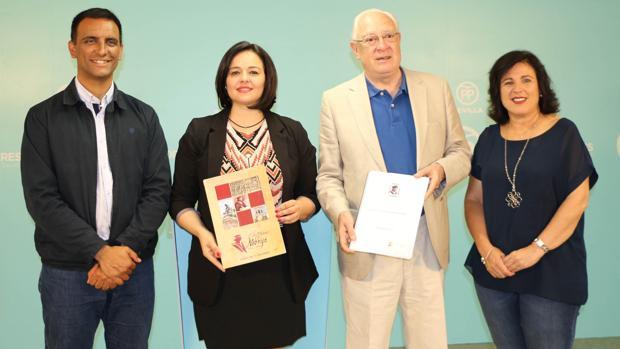 Francisco Javier Monge, Virginia Pérez, Jaime Raynaud y Monserrat Guerrero