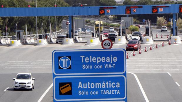 Autovía de peaje Sevilla-Cádiz, con 93 kilómetros que van desde Dos Hermanas a Puerto Real