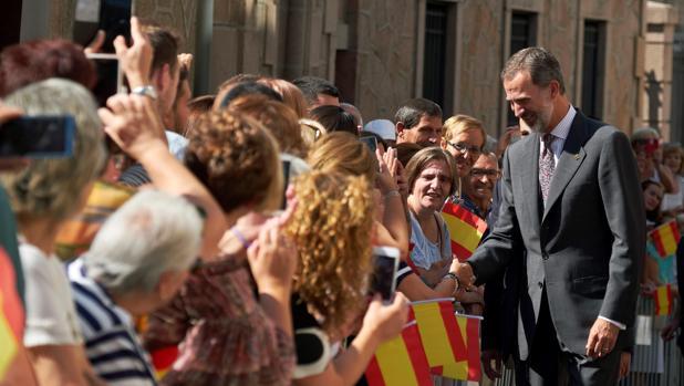El Rey Felipe VI, esta misma semana, en un acto en Ávila