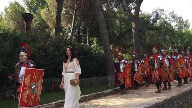 Una recreación de la Centuria Romana en Santiponce