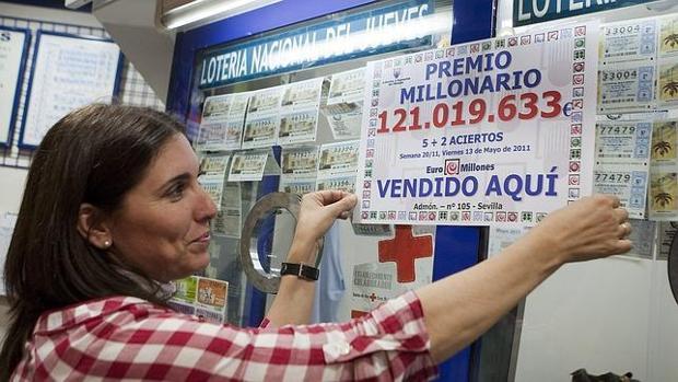 La administración de Lotería de Sevilla donde se vendió el boleto premiado