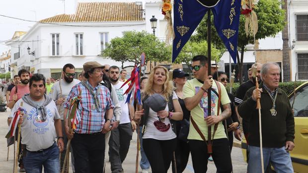 Internos de la cárcel de Huelva peregrinando hacia El Rocío