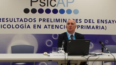 Antonio Cano Vindel, catedrático e investigador principal del ensayo Clínico PsicAP