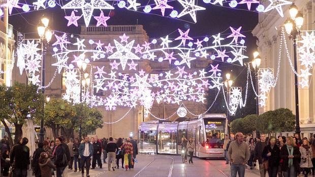 Cu les y cu ntas son las calles de sevilla que - Iluminacion sevilla ...