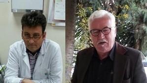 Antonio Leal, a la izquierda, y Ángel Villareal no participan de la opinión de la directora del centro