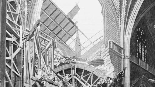 El hundimiento del cimborrio de la Catedral en 1888