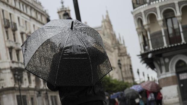 El paraguas se ha hecho imprescindible en Sevilla