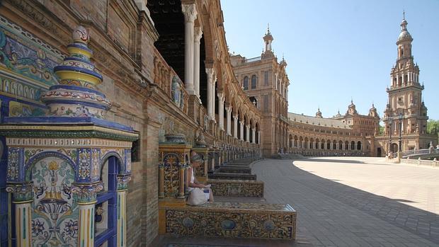 Imagen parcial de la Plaza de España