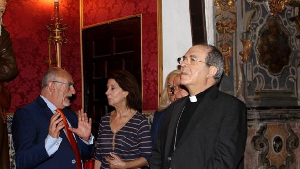 Asenjo durante su visita este martes a la capilla de San José