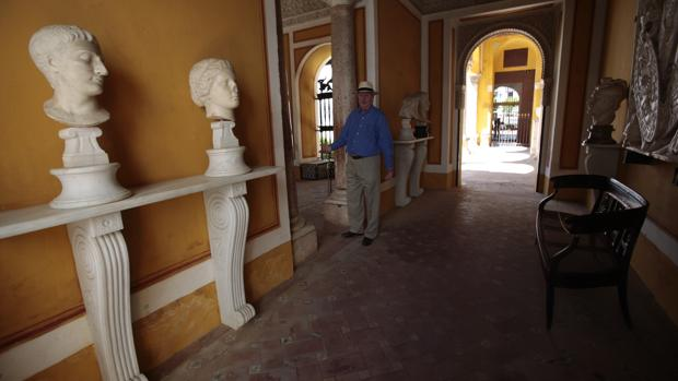 El duque de Segorbe en una de las dependencias de la Casa de Pilatos