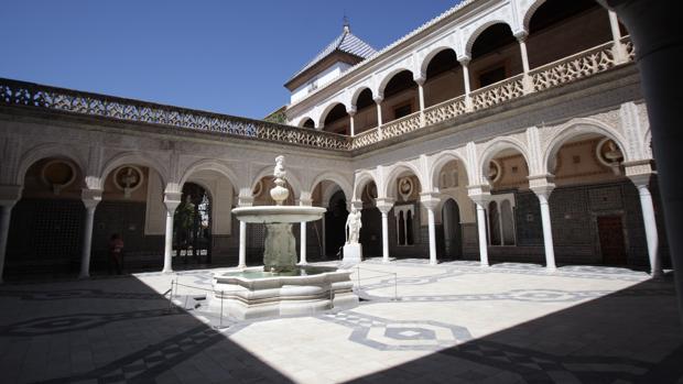El patio principal de la Casa de Pilatos