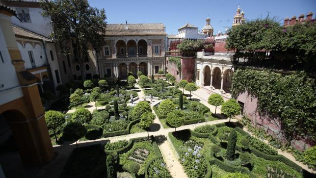 Uno de los jardines de la Casa de Pilatos