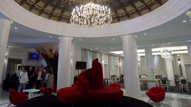 Hall del hotel Colón