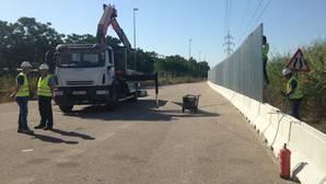 El vallado de la Zona Franca de Sevilla estará terminado en un mes
