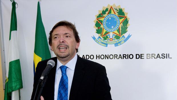 El sociaslista Blas Ballesteros cuando era cónsul honorario de Brasil
