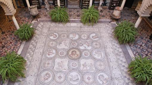 Uno de los mosaicos de la casa