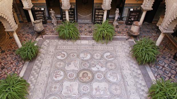 Vista del mosaico de Pan o de Polifemo, uno de los mejores de Europa