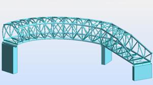 Recreación del nuevo proyecto de la pasarela para peatones y bicicletas de Tabalada