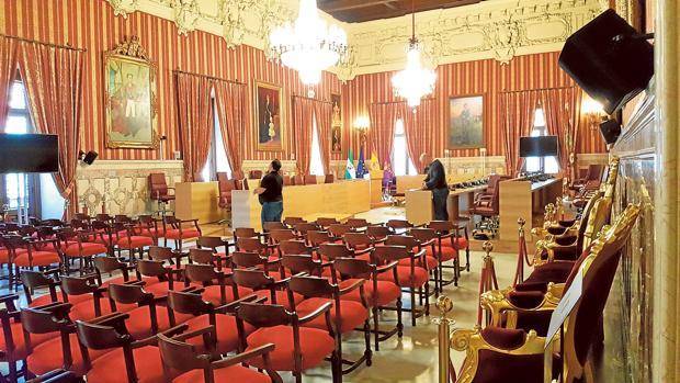 El ayuntamiento sustituye mobiliario de la exposici n del for Registro bienes muebles sevilla