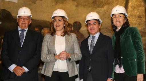 José Luis Olivares, Susana Díaz, Rafael Herrador y Rosa Aguilar