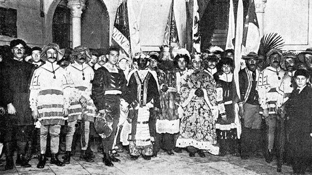 Primera Cabalgata de Reyes de Sevilla, en 1918