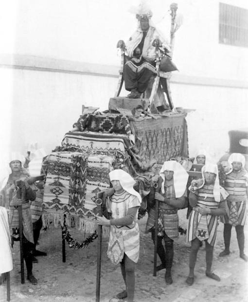 Un auténtico trono para Baltasar en 1927