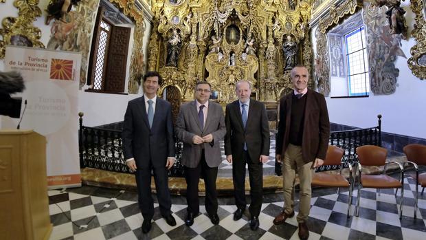 Rus, Ramos, Villalobos y Muñoz, en la Capilla Doméstica de San Luis