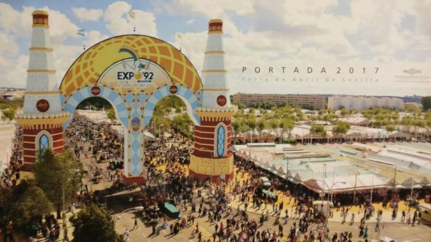 Recreación de la portada de la Feria que conmemorará el 25 aniversariao de la Expo 92