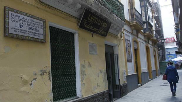Casa que vio nacer a Luis Cernuda el 21 de septiembre de 1902