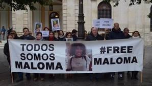 Concentración para pedir la liberación de Maloma