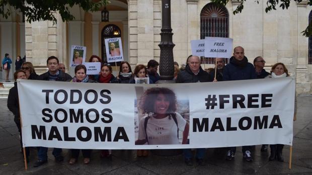 Concentración en la Plaza Nueva por la liberación de Maloma Morales