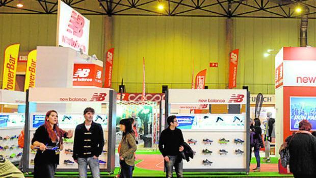 Los stands de New Balance en la Expo Zurich Maratón
