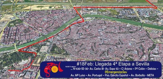 Dispositivo especial de tráfico por la llegada a Sevilla de la Vuelta Ciclista a Andalucía