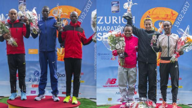 Titus revienta el crono y Paula González confirma su idilio con la Maratón de Sevilla