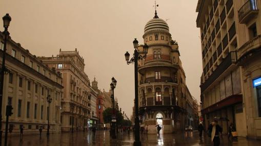 Imagen de la avenida de la Constitución este jueves