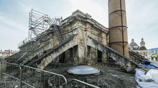 Obras de restauración de la Real Fábrica de Artillería en 2016