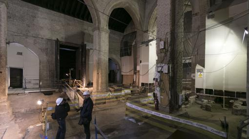 Obras en la Iglesia de Santa Catalina