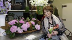 Durante 40 años, Marta Pastega llevó las riendas de la tienda de flores