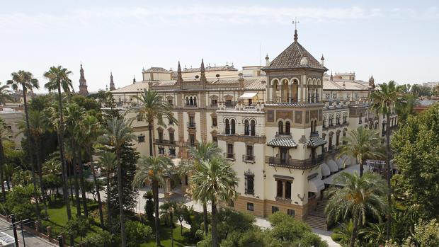 Vista del Hotel Alfonso XIII de Sevilla