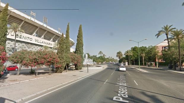 La avenida de la Palmera desde la glorieta Plus Ultra