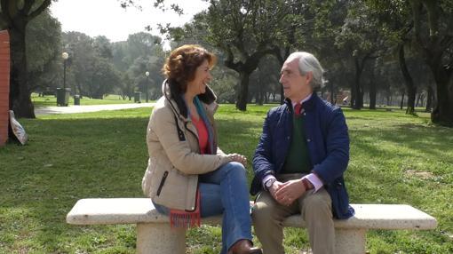 Ilda Tovani y José Carlos Fernández en el mismo lugar donde grabaron para Ecos del Rocío