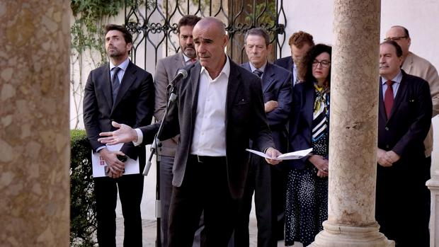 Antonio Muñoz, durante el acto de presentación de los datos turísticos celebrado en el Alcázar