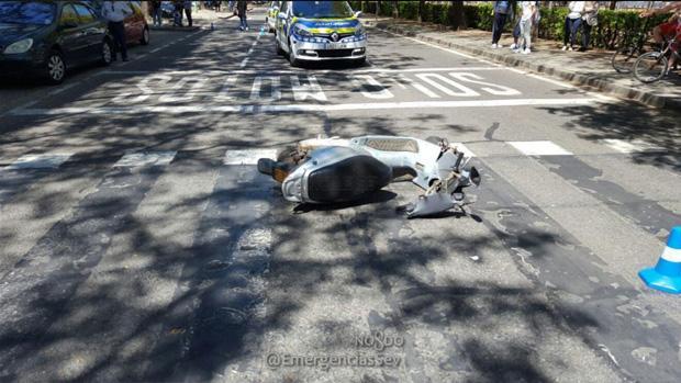 El ciclomotor que habría arrollado al niño de nueve años en Alcalde Manuel del Valle