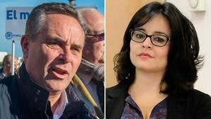 El actual presidente del PP sevillano, Juan Bueno y la portavoz popular en la Diputación, Virginia Pérez