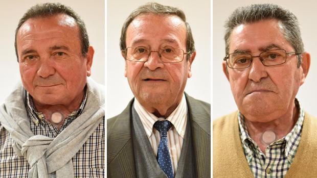 Antonio Serrano, Antonio García Toledo y Juan Barroso, pacientes laringectomizados