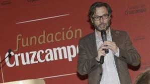 Ignacio Calderón ayer durante su conferencia