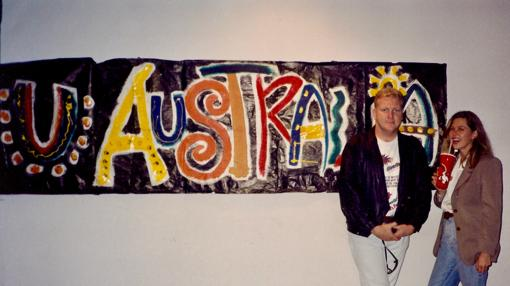 Sean Riley y Lola González Bourrelier en el Pabellón de Australia