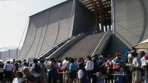 Pabellón de Japón, una imponente (y efímera) estructura en madera